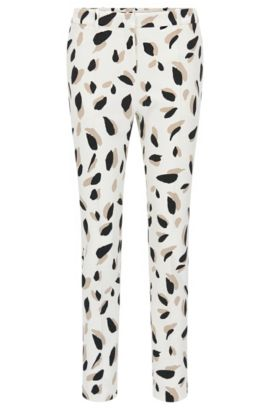 'Timera' | Slim Fit, Printed Stretch Trousers, Patterned