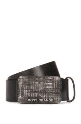 'Jan' | Leather Belt, Black