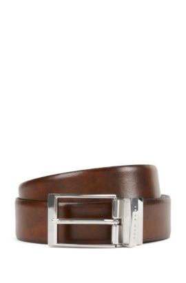 Reversible Leather Belt | Ombel Or35 Pp, Brown
