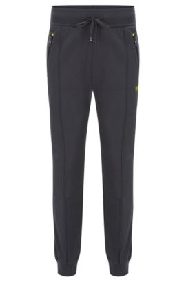 Stretch Cotton Lounge Pant | Long Pant Cuffs, Dark Grey