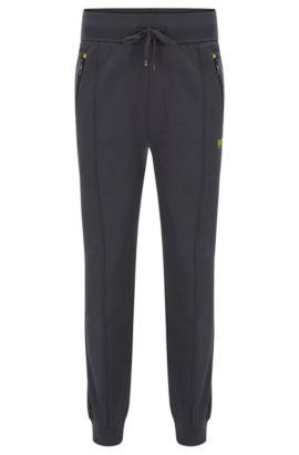 'Long Pant Cuffs' | Stretch Cotton Lounge Pants, Dark Grey