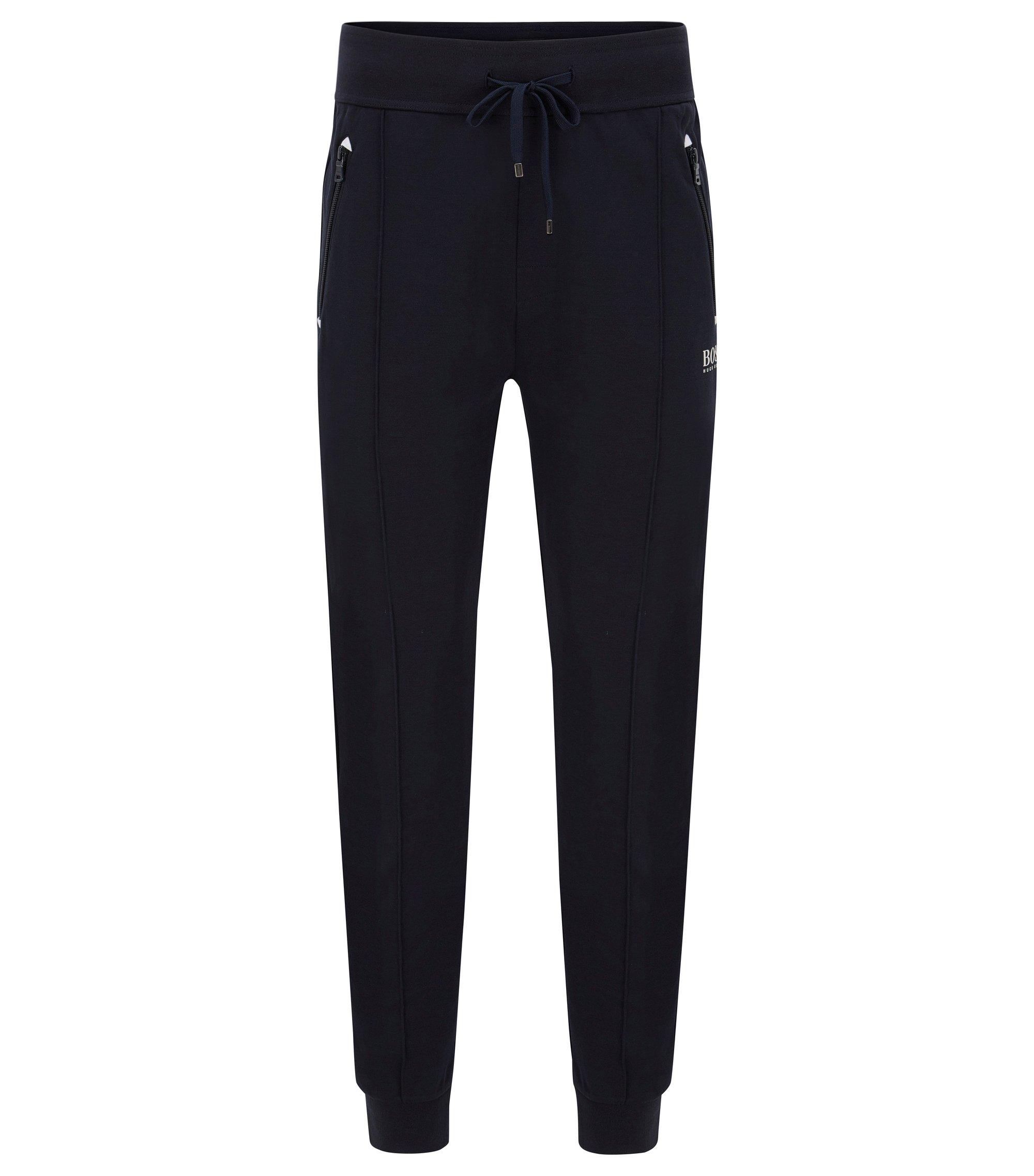 Stretch Cotton Lounge Pant   Long Pant Cuffs, Dark Blue