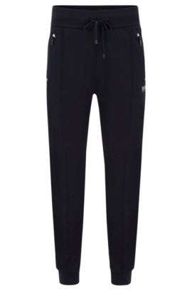 Stretch Cotton Lounge Pant | Long Pant Cuffs, Dark Blue