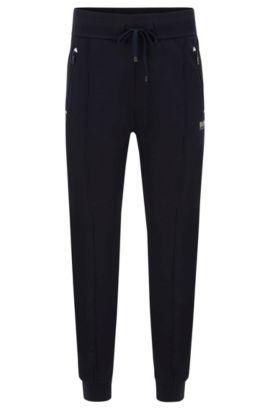 'Long Pant Cuffs' | Stretch Cotton Lounge Pants, Dark Blue