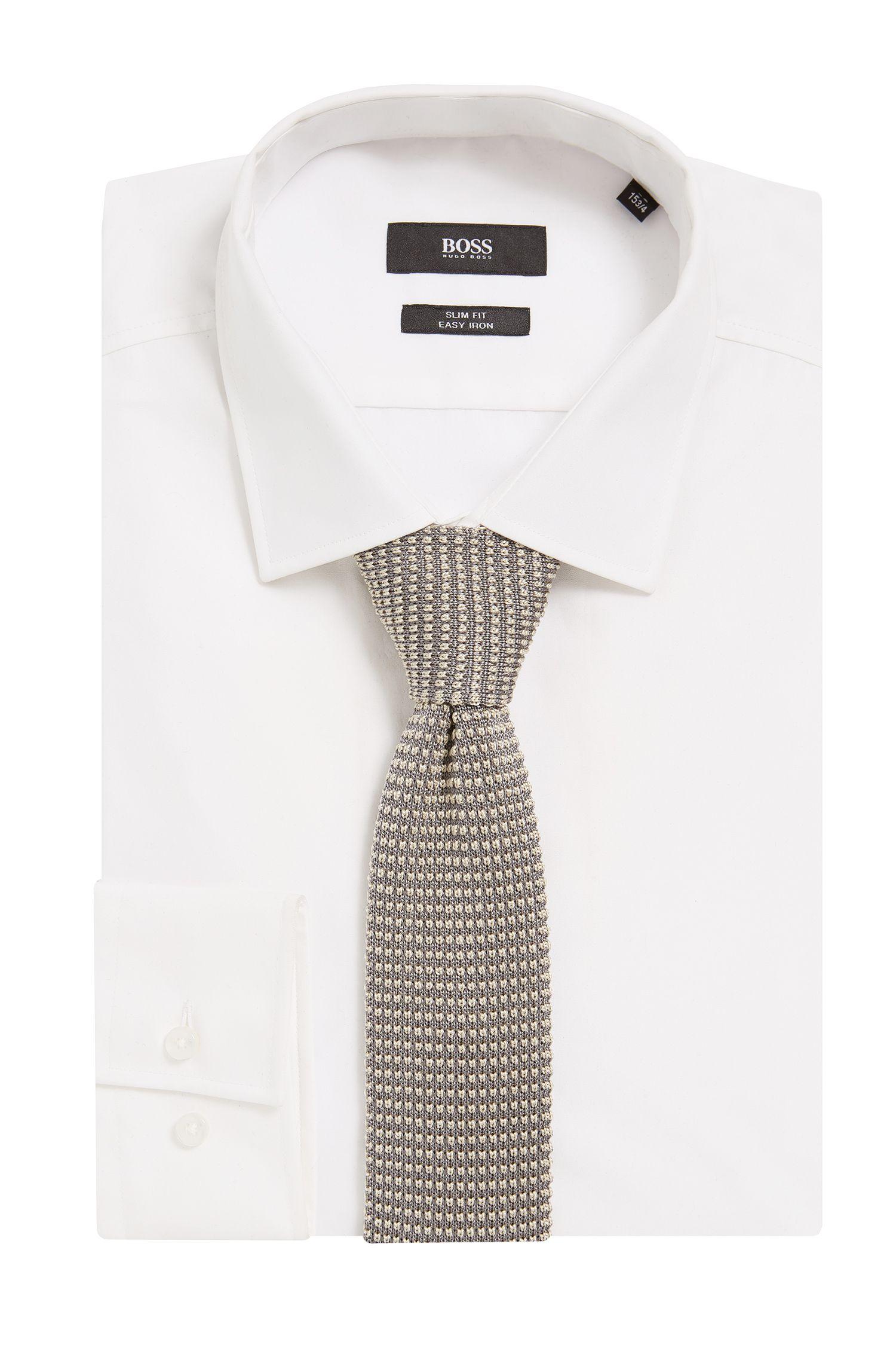 BOSS Tailored Knitted Italian Silk Slim Tie