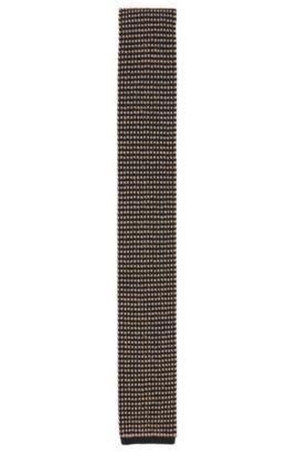 'T-Tie 6 cm Knitted' | Slim, Knitted Silk Tie, Beige