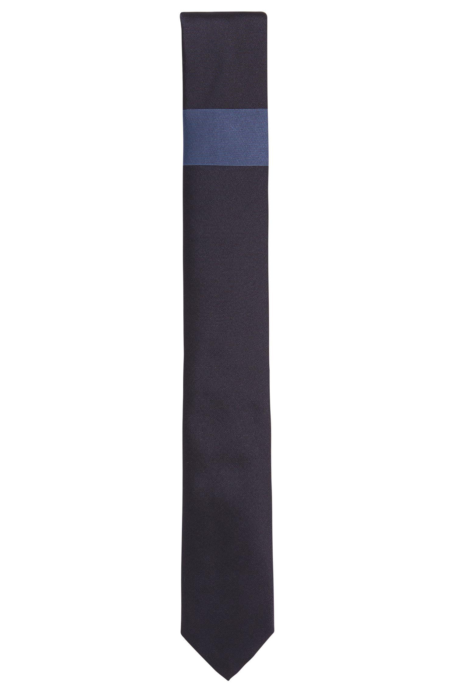 'Tie 6 cm' | Slim, Colorblocked Silk Tie