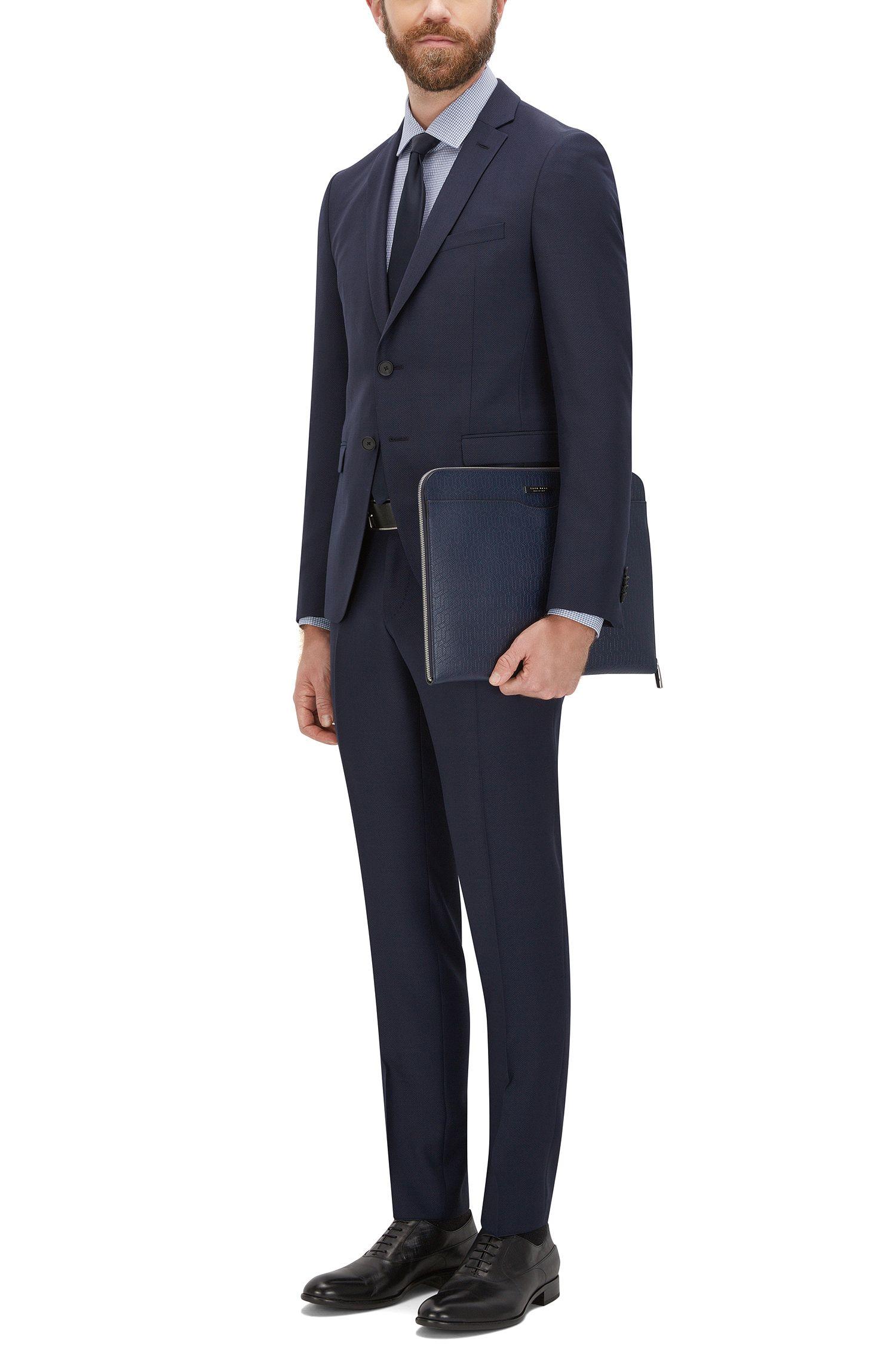 Embossed Leather Portfolio Case | Signature HE Portf