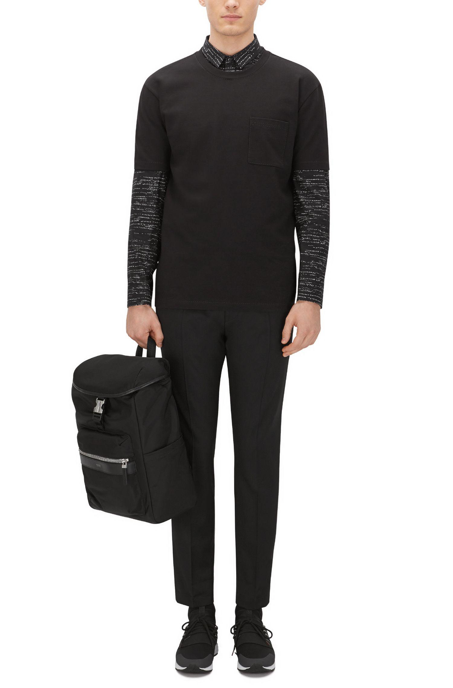 Stretch French Terry Pocket T-Shirt   Daccor, Black