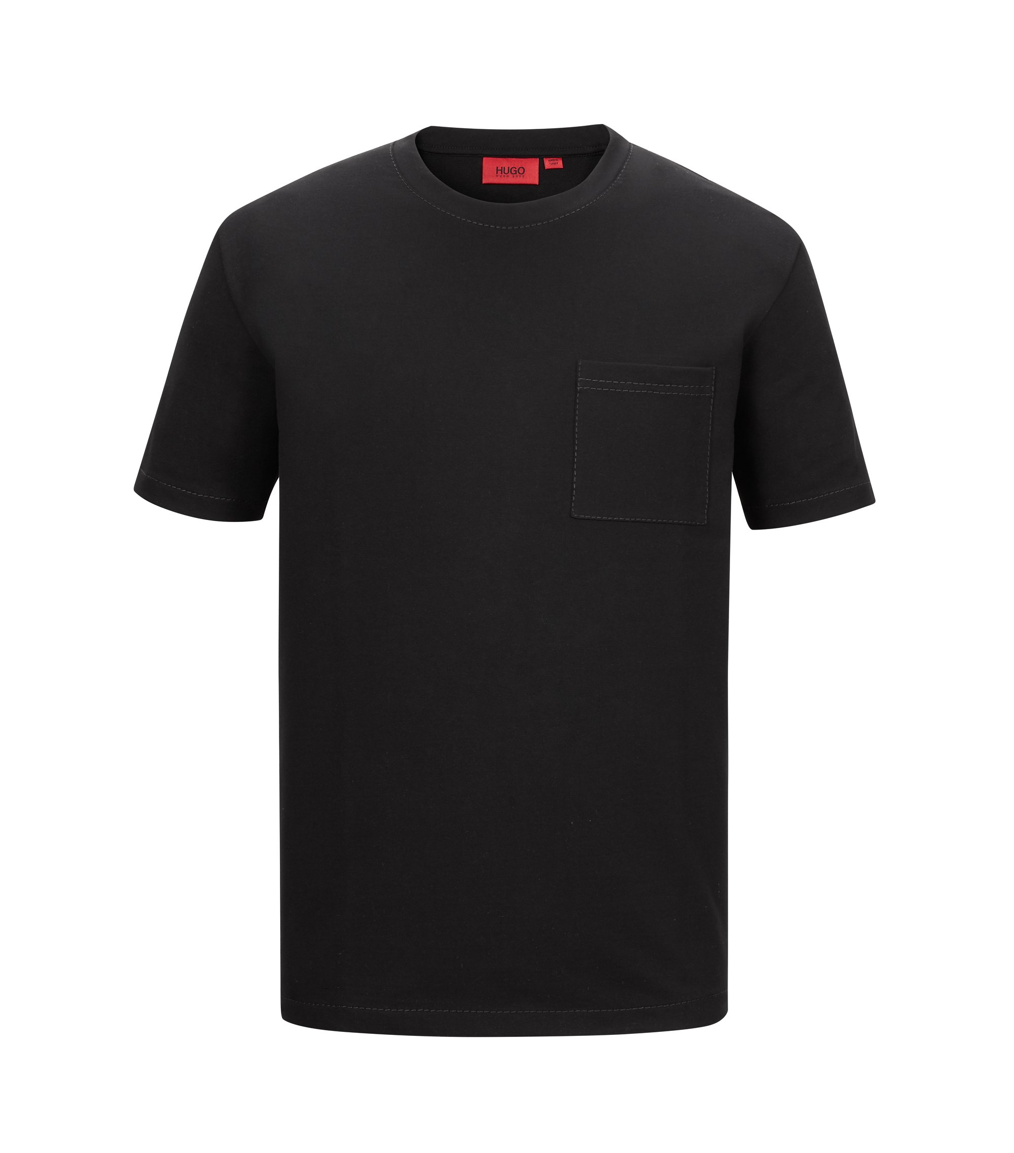 Stretch French Terry Pocket T-Shirt | Daccor, Black