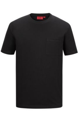'Daccor' | Stretch French Terry Pocket T-Shirt, Black