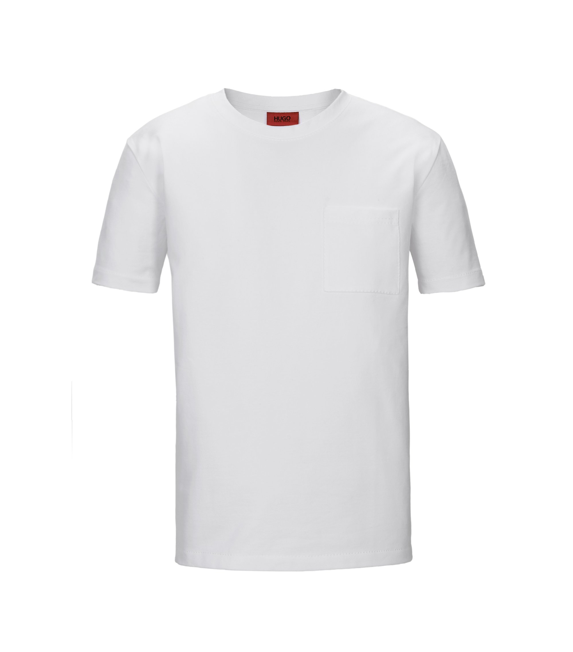 Stretch French Terry Pocket T-Shirt | Daccor, White