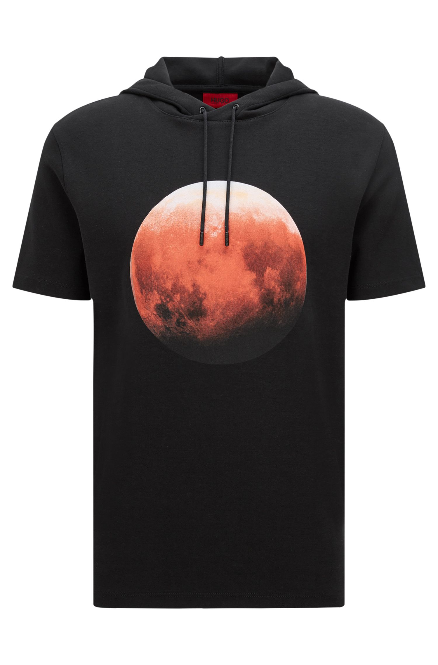 'Doubletree' | Red Moon Cotton Blend Hooded Sweatshirt