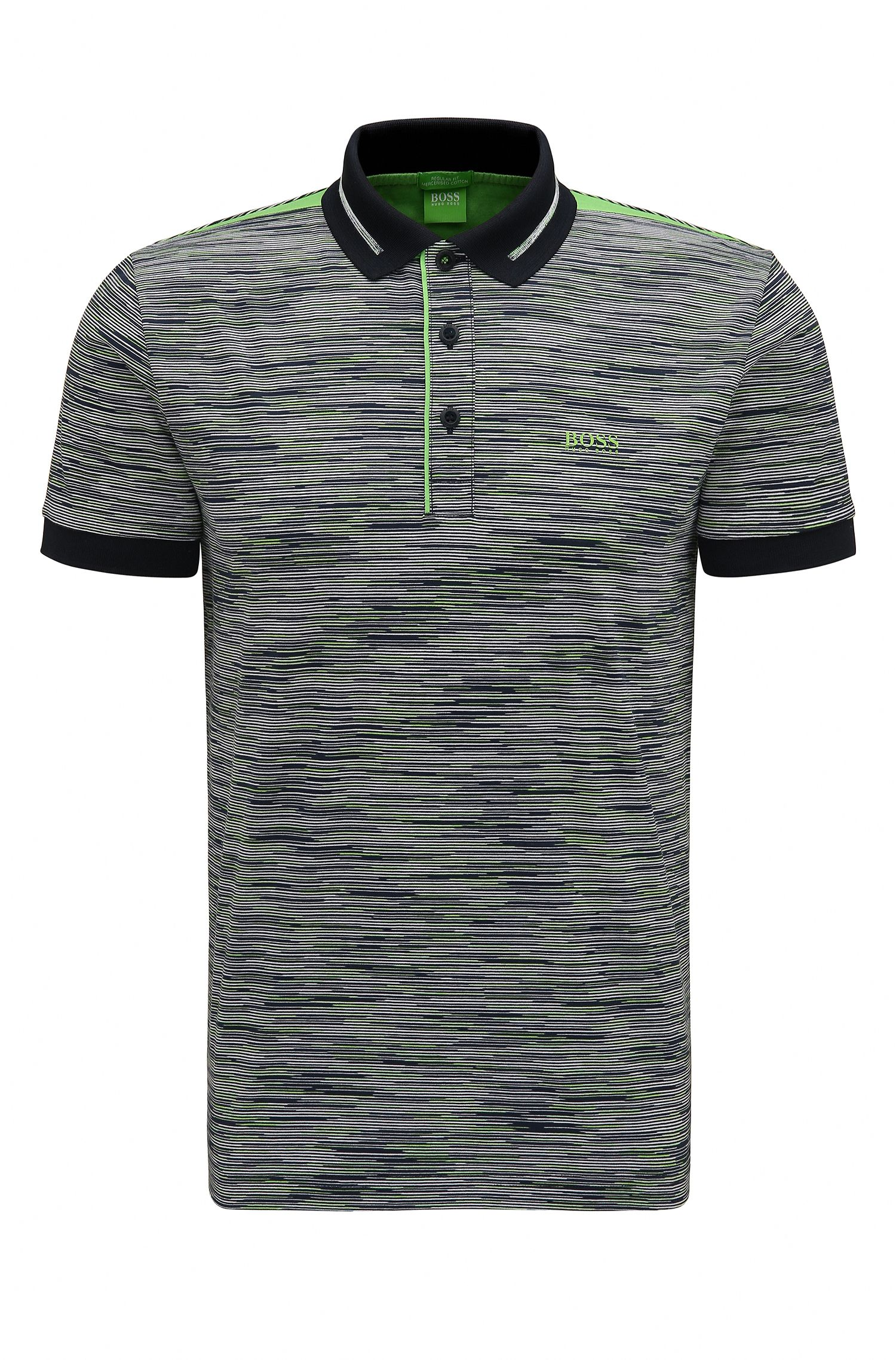 Cotton Polo Shirt, Modern Fit   Paddy, Dark Blue