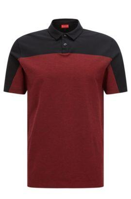 Colorblock Cotton Polo, Slim Fit | Dormfort , Black