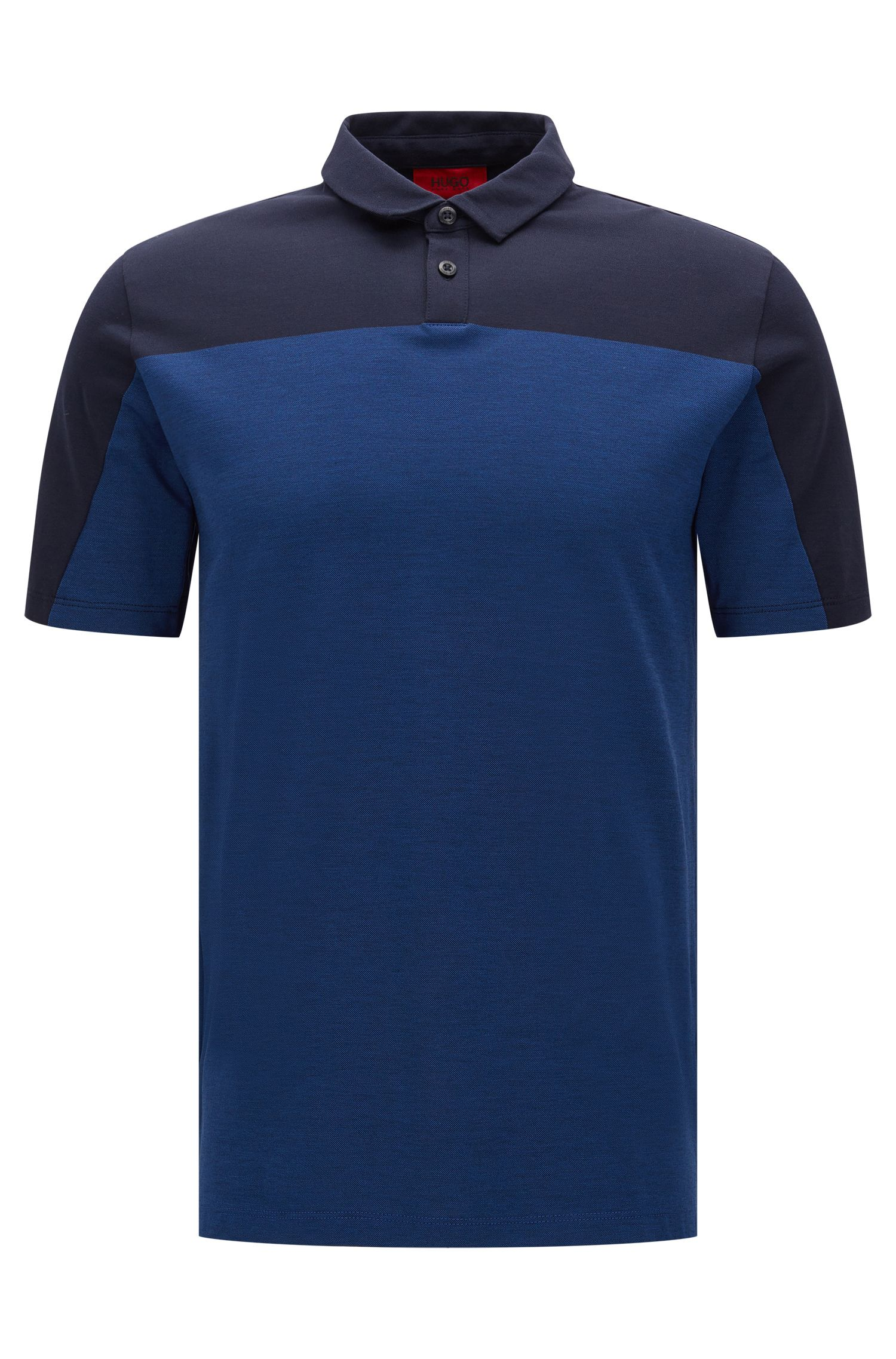 Colorblock Cotton Polo, Slim Fit | Dormfort