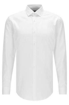 Cotton Dress Shirt, Slim Fit | Ismo  , White