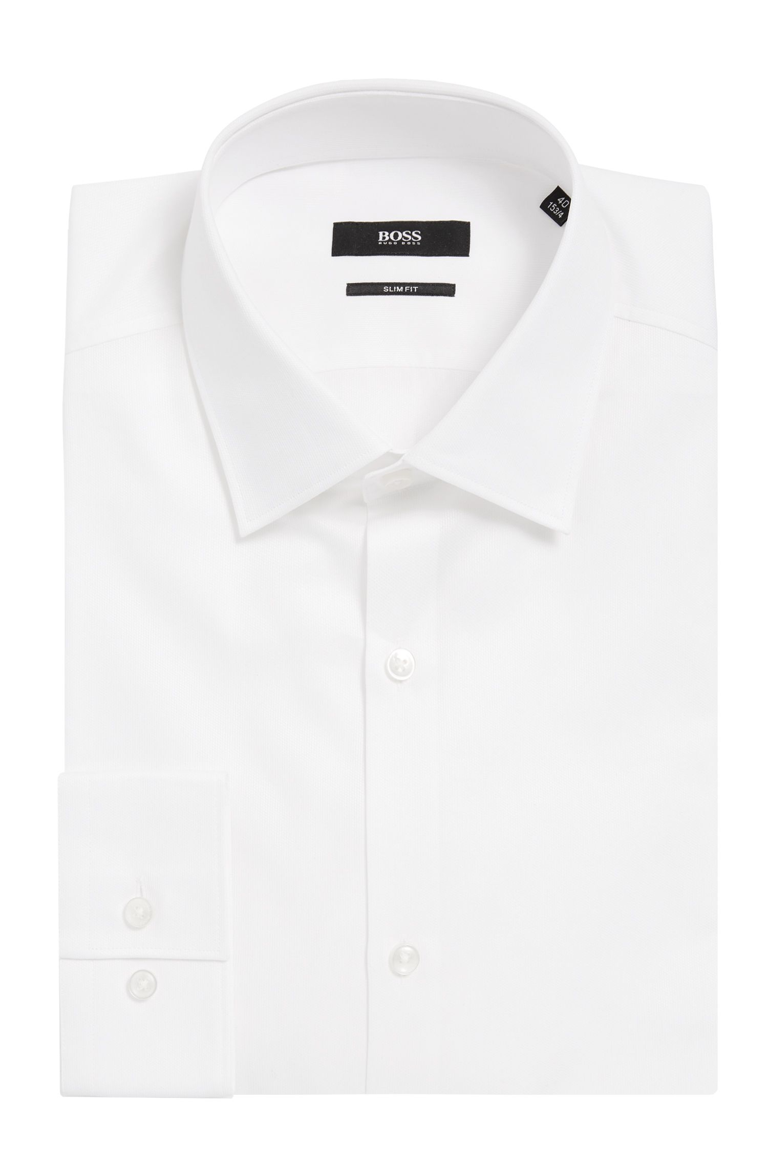 Cotton Dress Shirt, Slim Fit   Ismo
