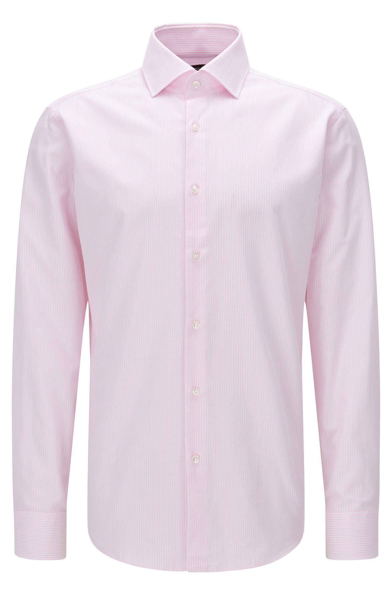 Striped Oxford Cotton Dress Shirt, Regular Fit | Gert, light pink