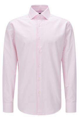 'Gert' | Regular Fit, Striped Oxford Cotton Dress Shirt, light pink