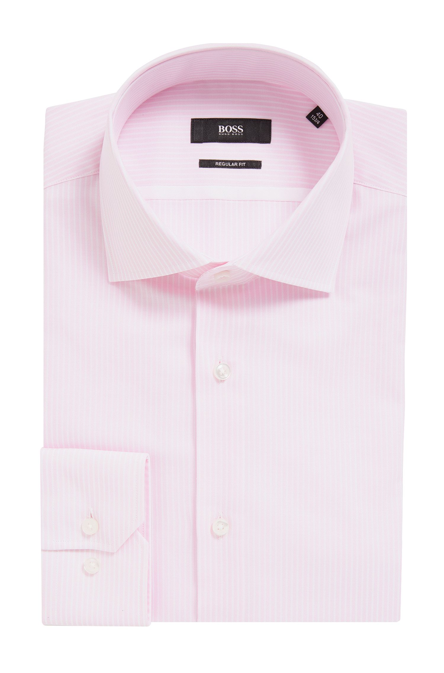 Striped Oxford Cotton Dress Shirt, Regular Fit | Gert