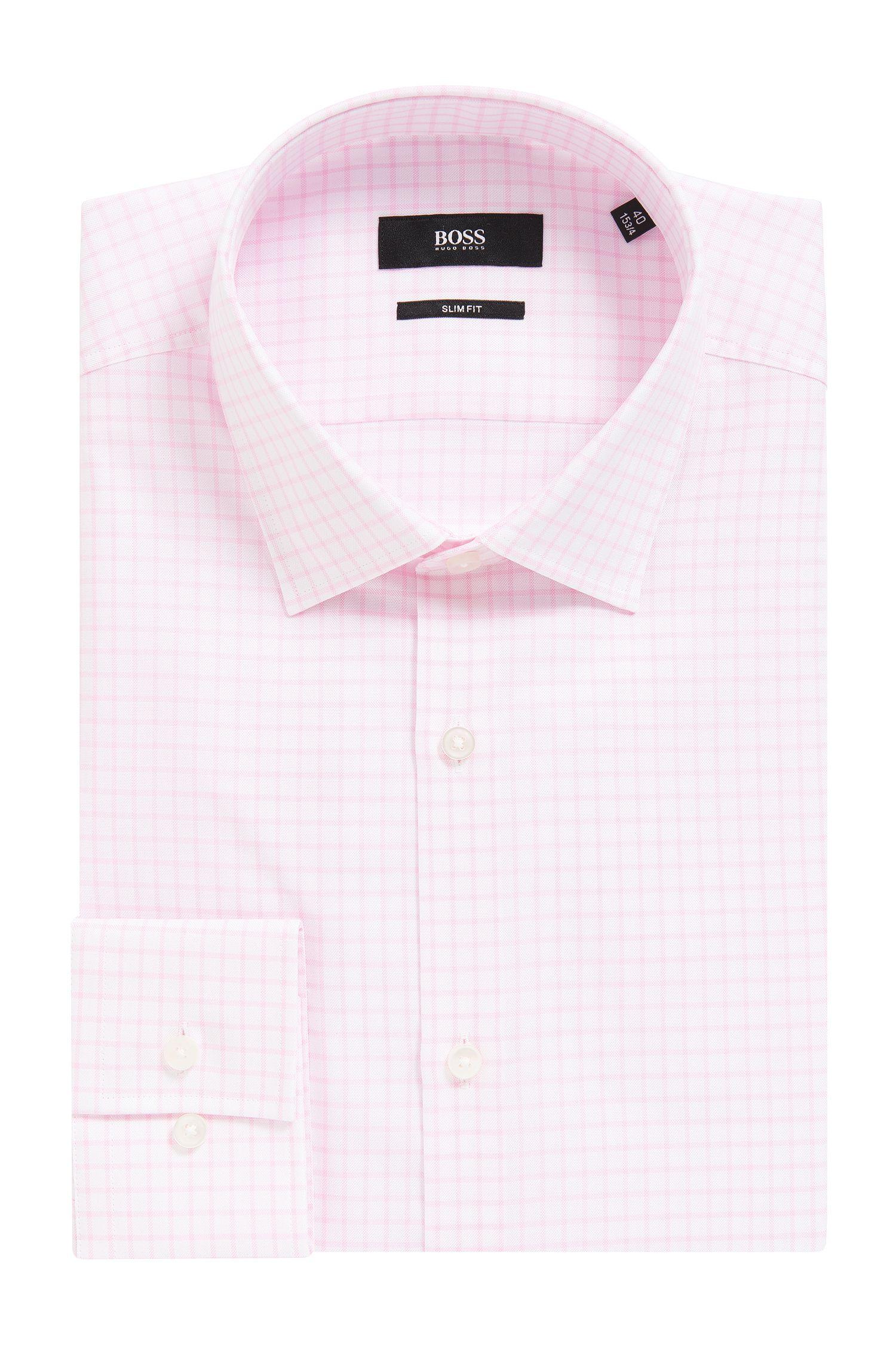 Check Cotton Dress Shirt, Slim Fit | Jenno