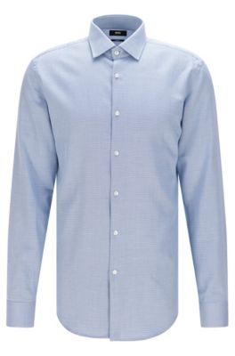 H m blue dress shirt 35 36