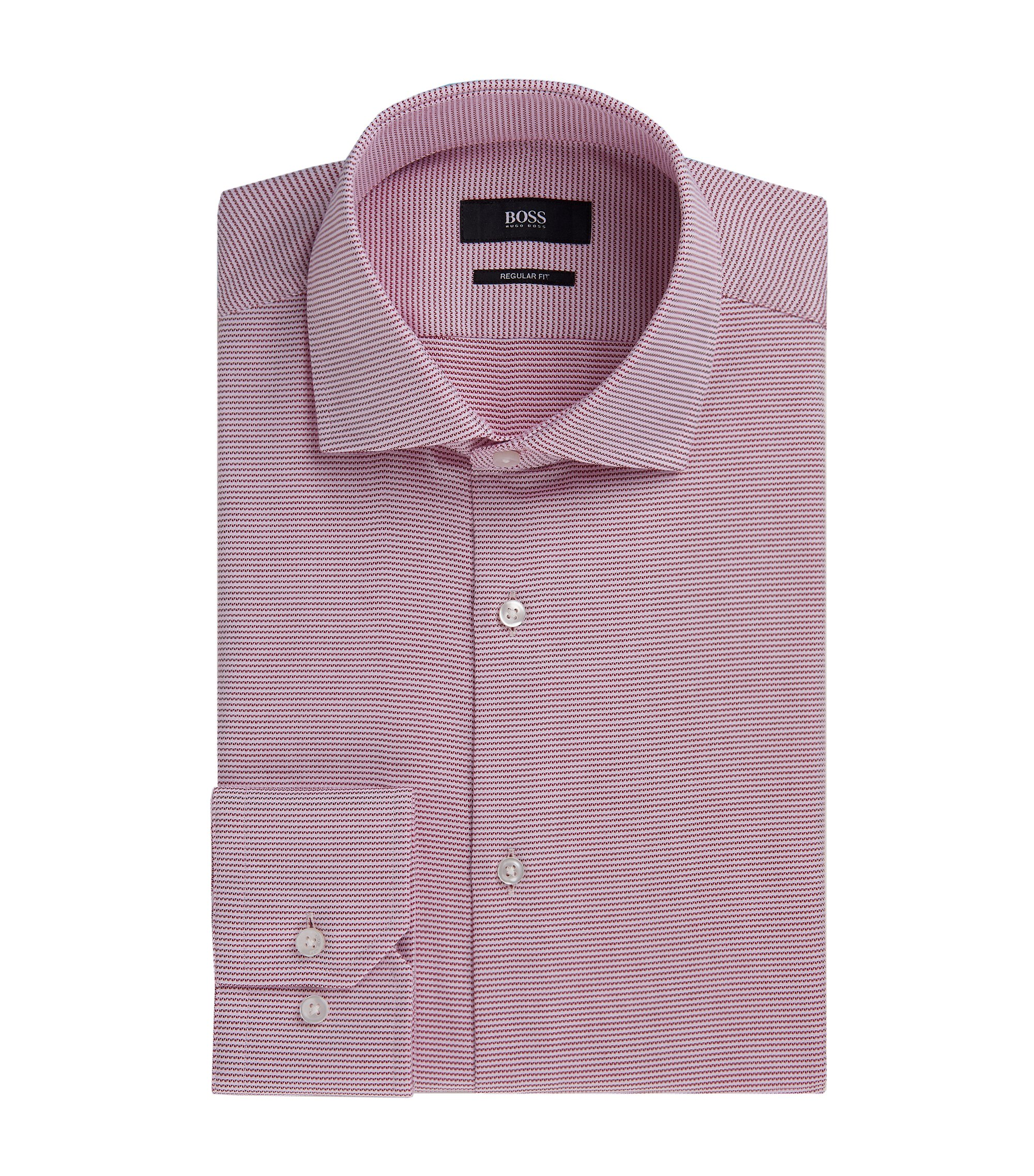 Striped Cotton Dress Shirt, Regular Fit | Gordon, Red