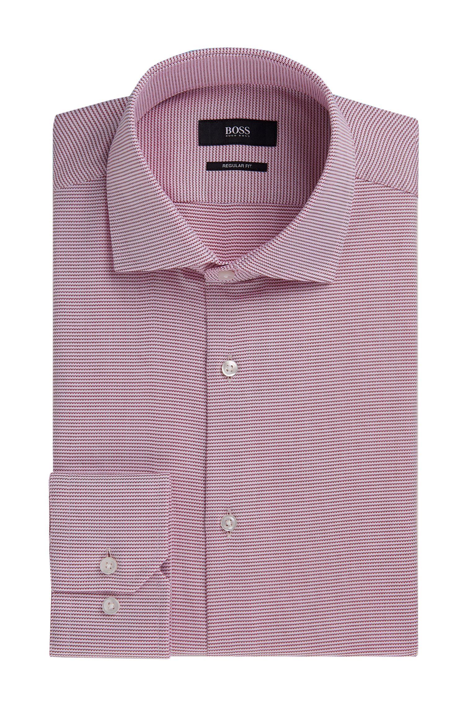 Striped Cotton Dress Shirt, Regular Fit | Gordon