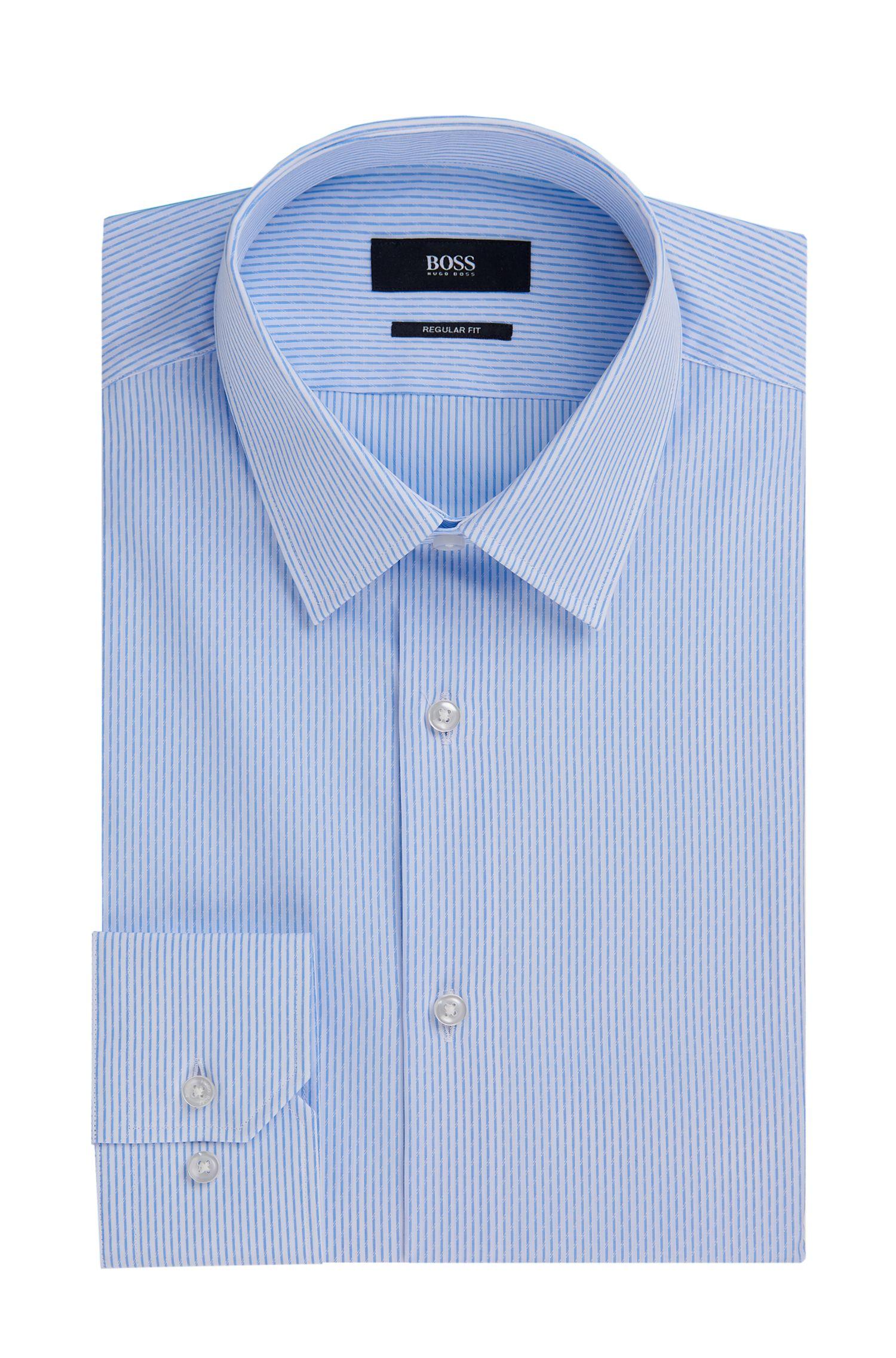 Striped Cotton Dress Shirt, Regular Fit   Enzo