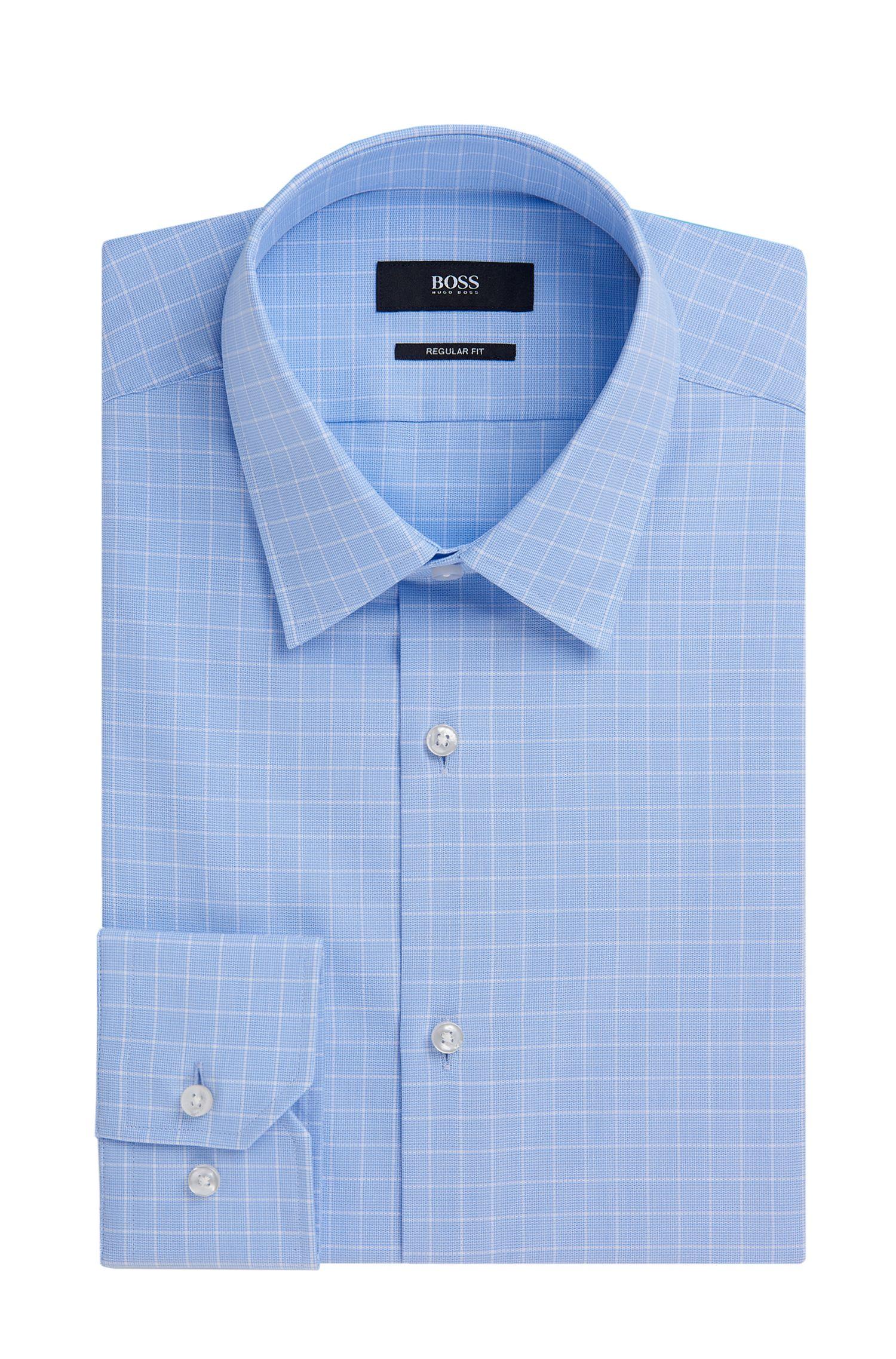 Check Cotton Dress Shirt, Regular Fit | Enzo
