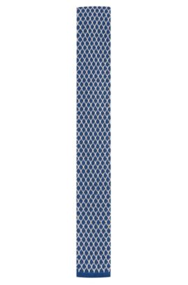 Cotton Knit Tie | Tie 5 cm Knitted, Dark Blue