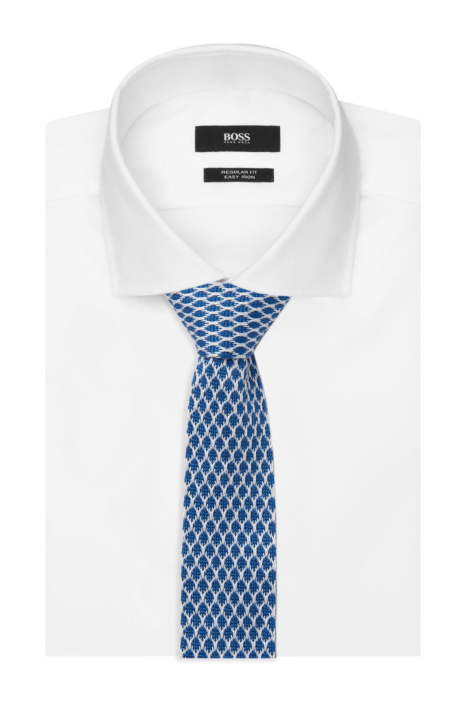 Cotton Knit Skinny Tie
