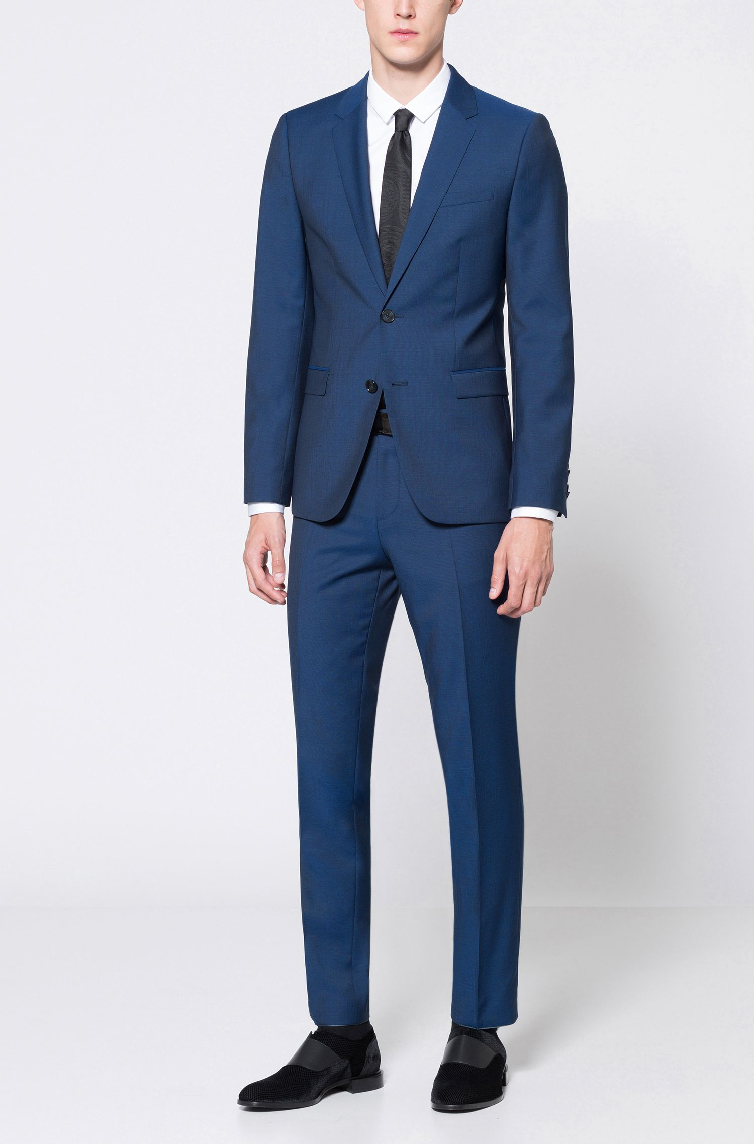 Wool Suit, Extra Slim Fit | Astian/Hets, Blue
