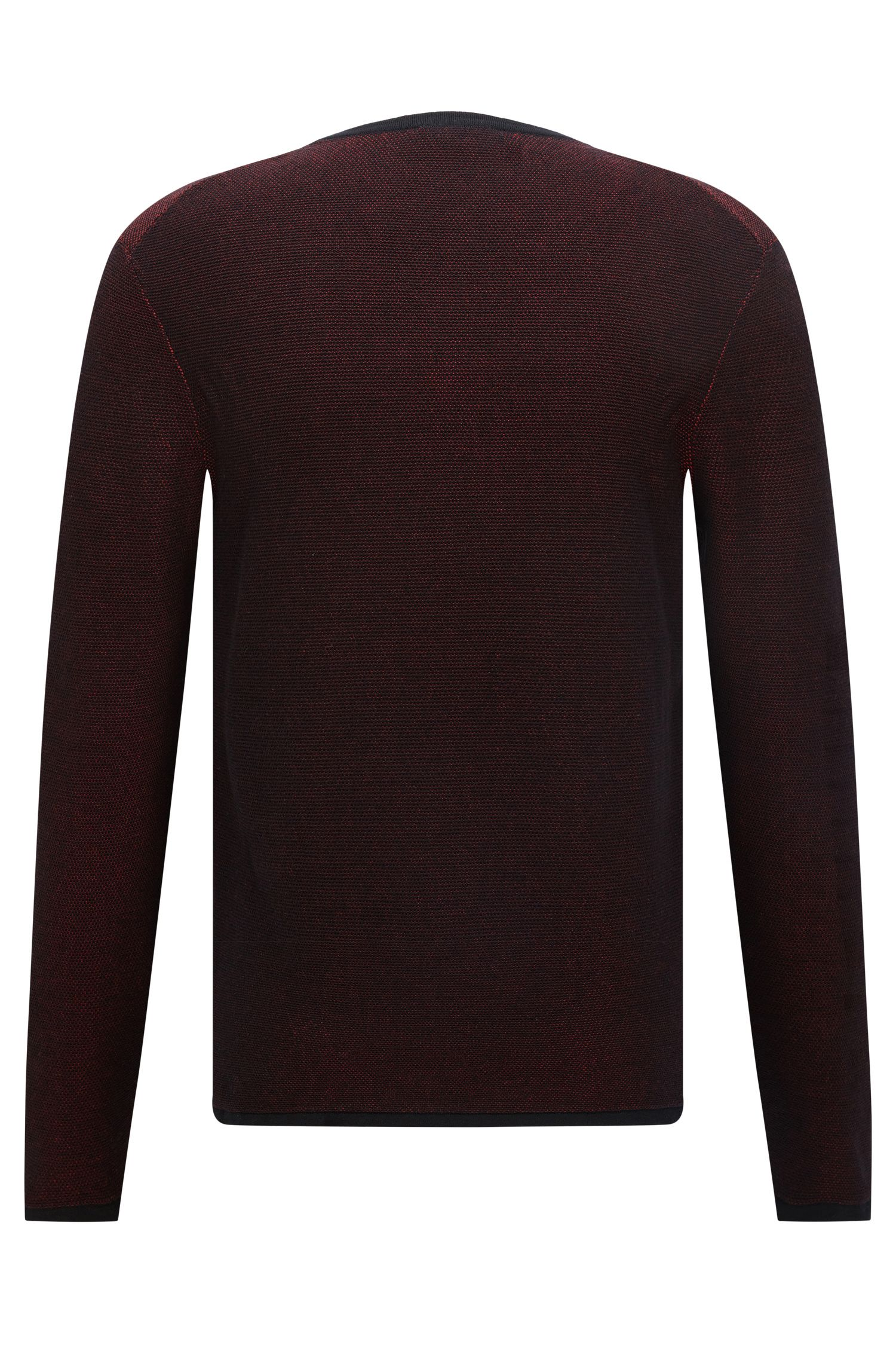 'Rime' | Relaxed Fit, Cotton Blend Sweater, Dark Red