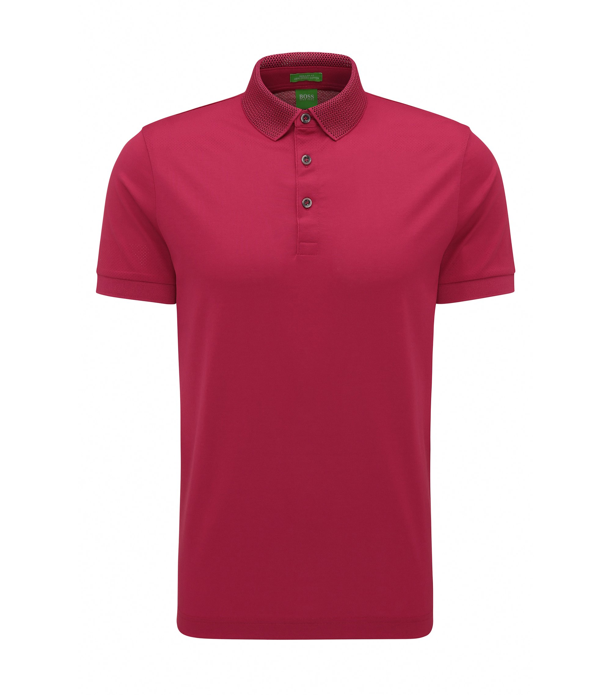 Mercerized Cotton Polo Shirt, Slim Fit | C-Pirenzo, Pink