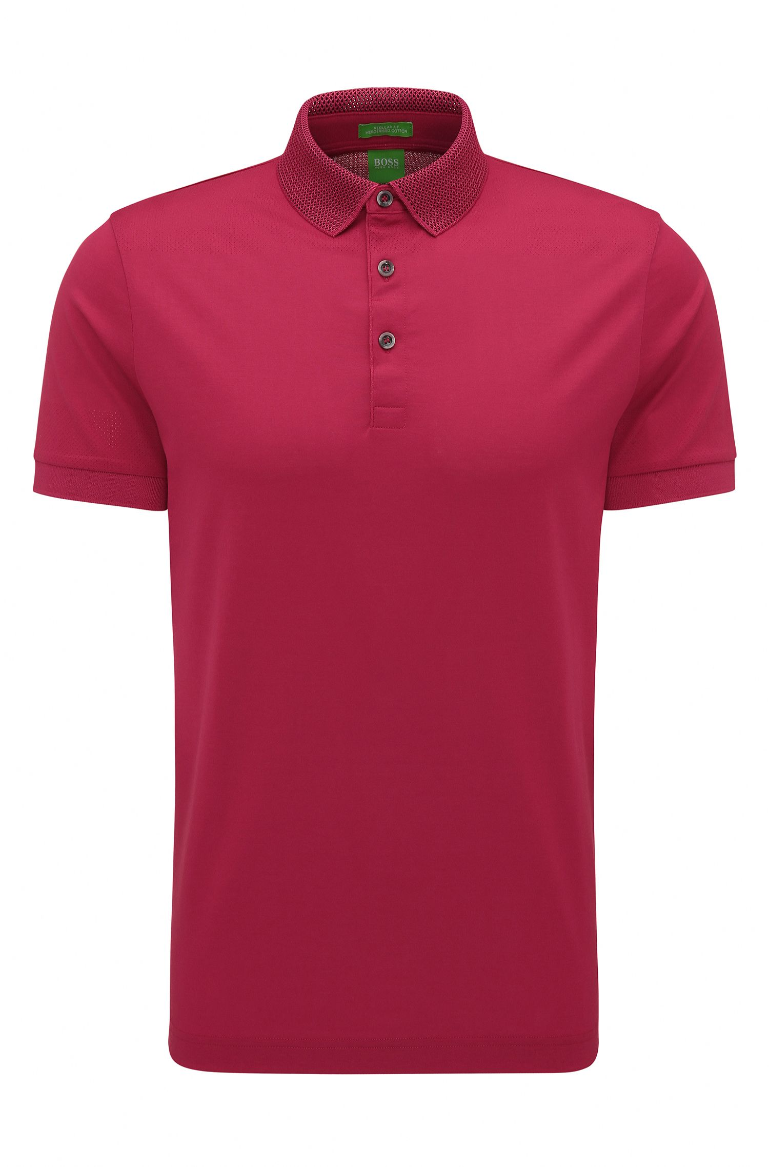 Mercerized Cotton Polo Shirt, Slim Fit | C-Pirenzo