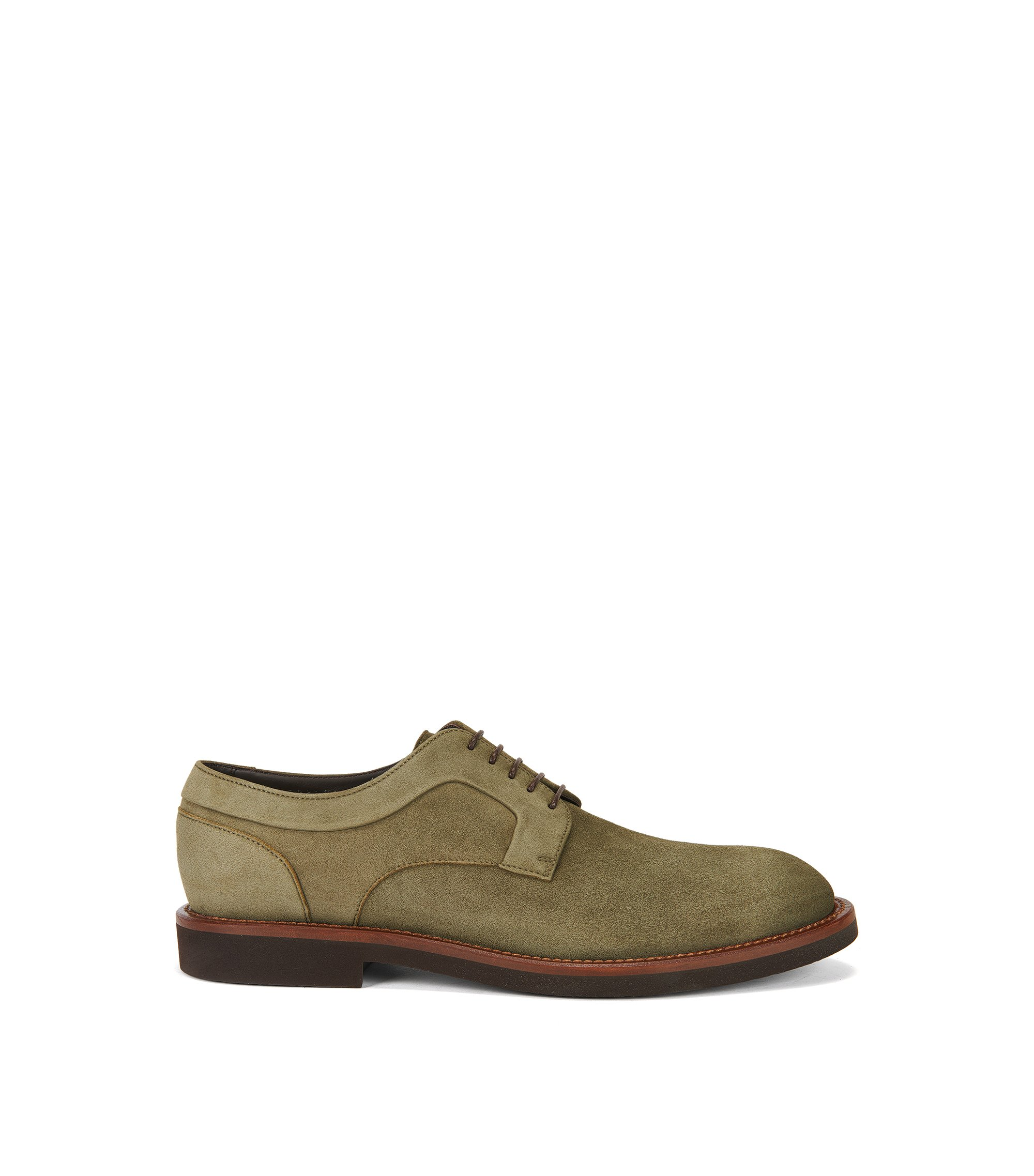 Nubuck Leather Derby Shoe | Eden Derb Sdg, Green