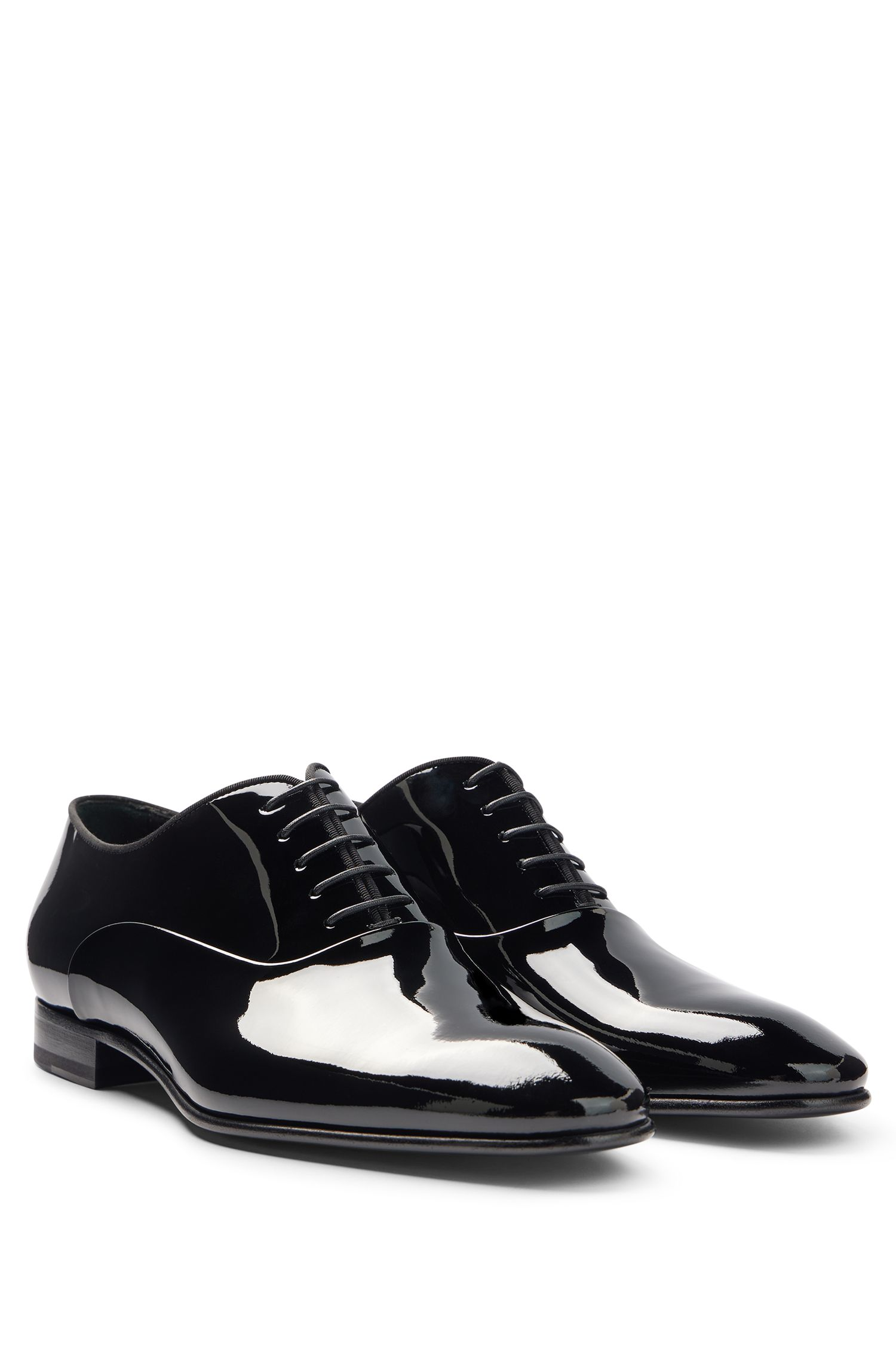 Italian Patent Leather Oxford Evening Shoe | Evening Oxfr pa, Black