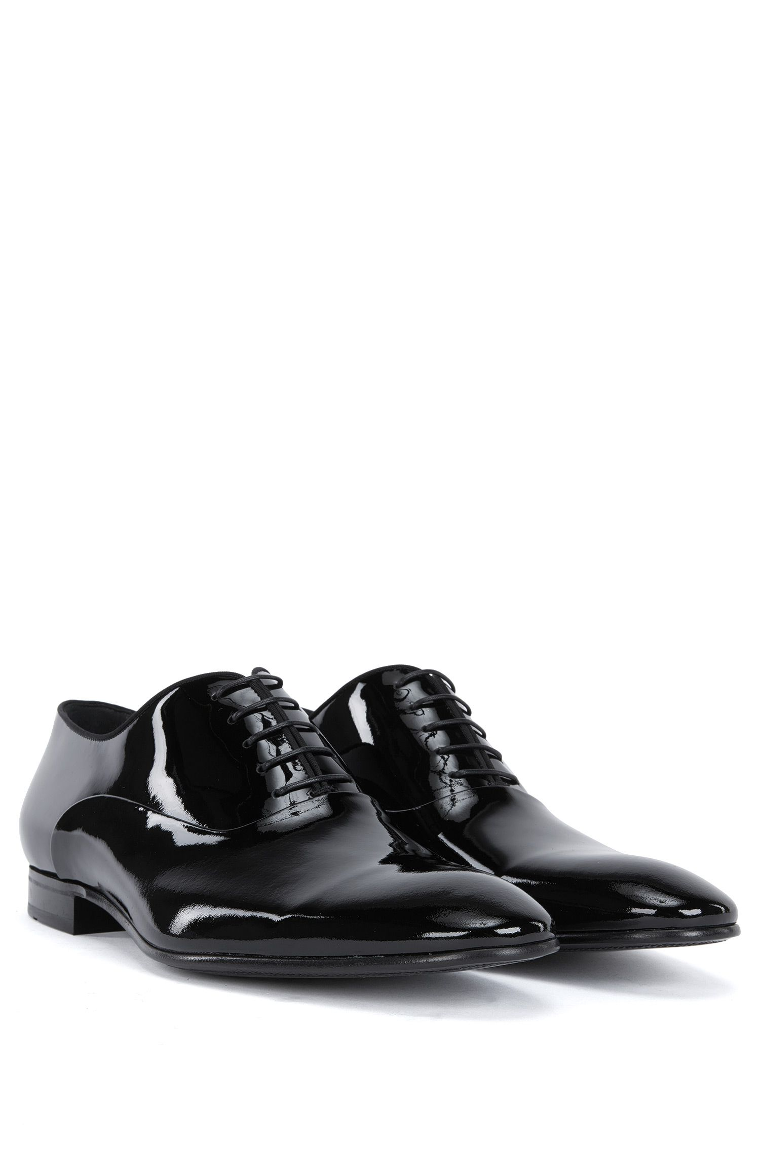 Italian Patent Leather Oxford Evening Shoe | Evening Oxfr pa