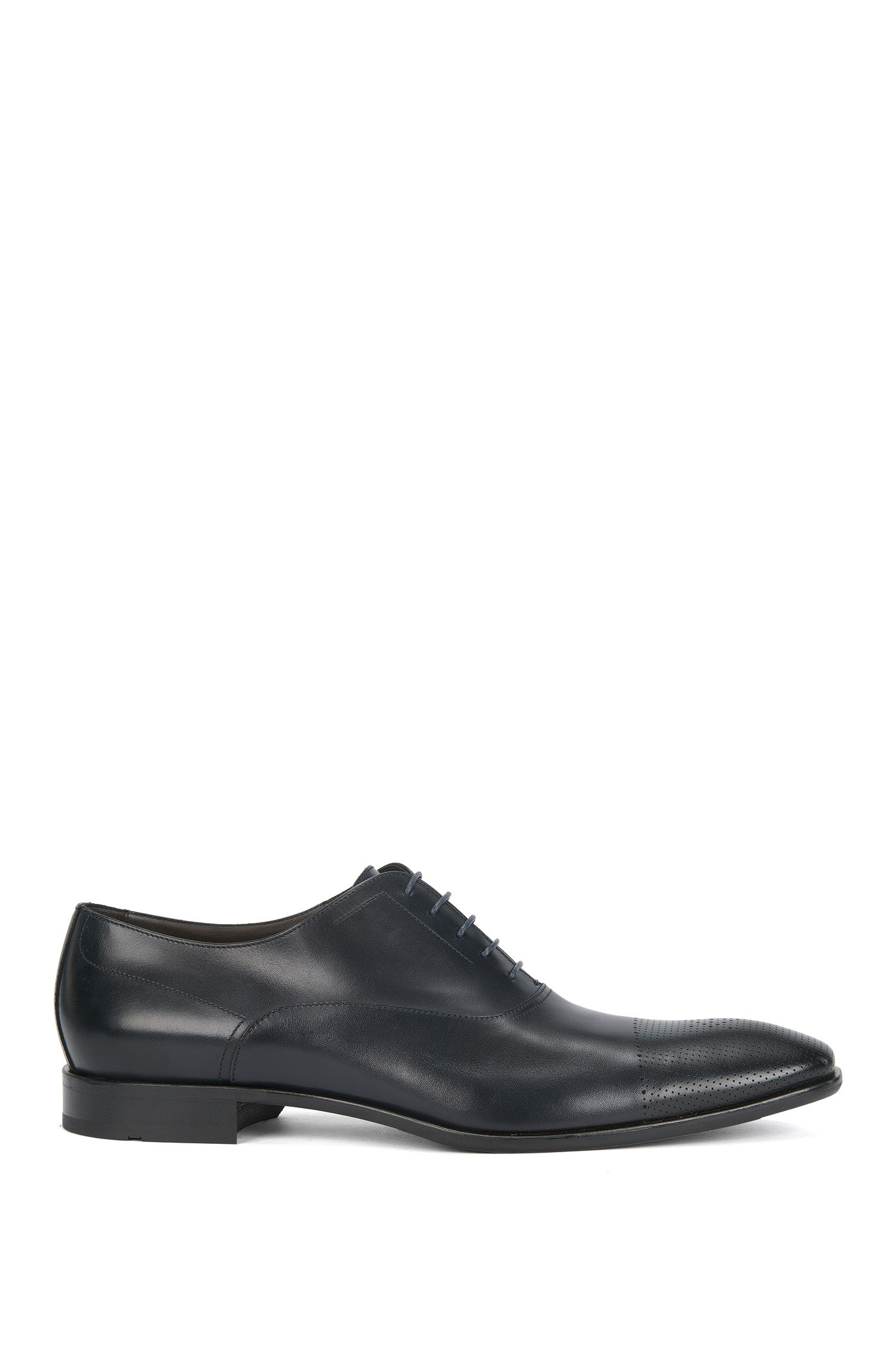 Perforated Italian Calfskin Oxford Dress Shoe | Chelsea Oxfr Ctls