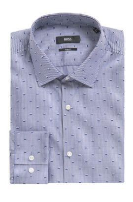Jenno' | Slim Fit, Cotton Dress Shirt, Dark Blue