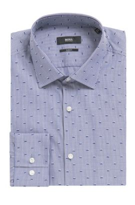 Jenno'   Slim Fit, Cotton Dress Shirt, Dark Blue