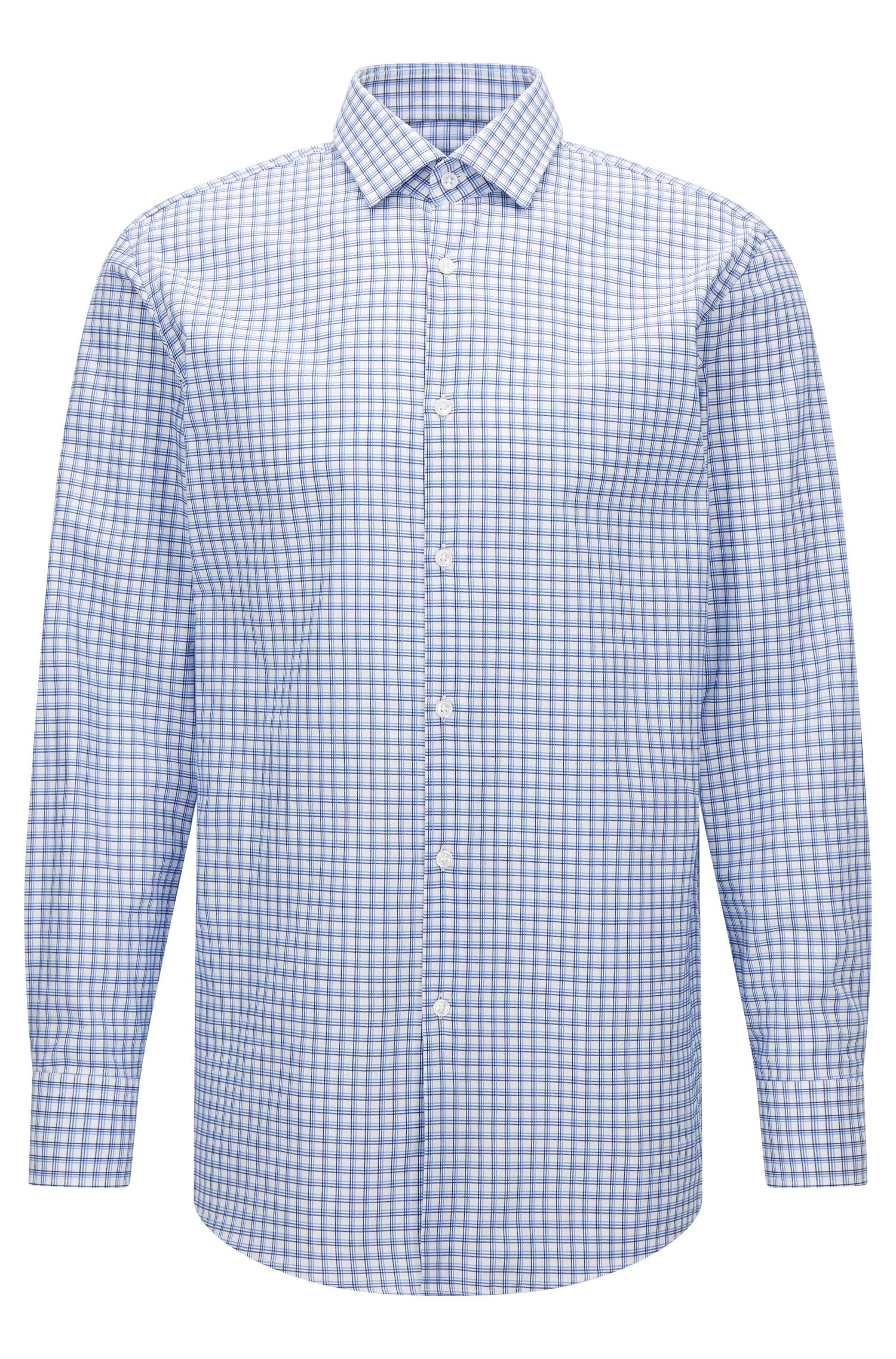 Tattersall Cotton Dress Shirt, Sharp Fit | Marley US