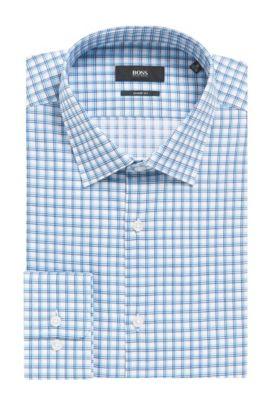 Tattersall Cotton Dress Shirt, Sharp Fit | Marley US, Turquoise