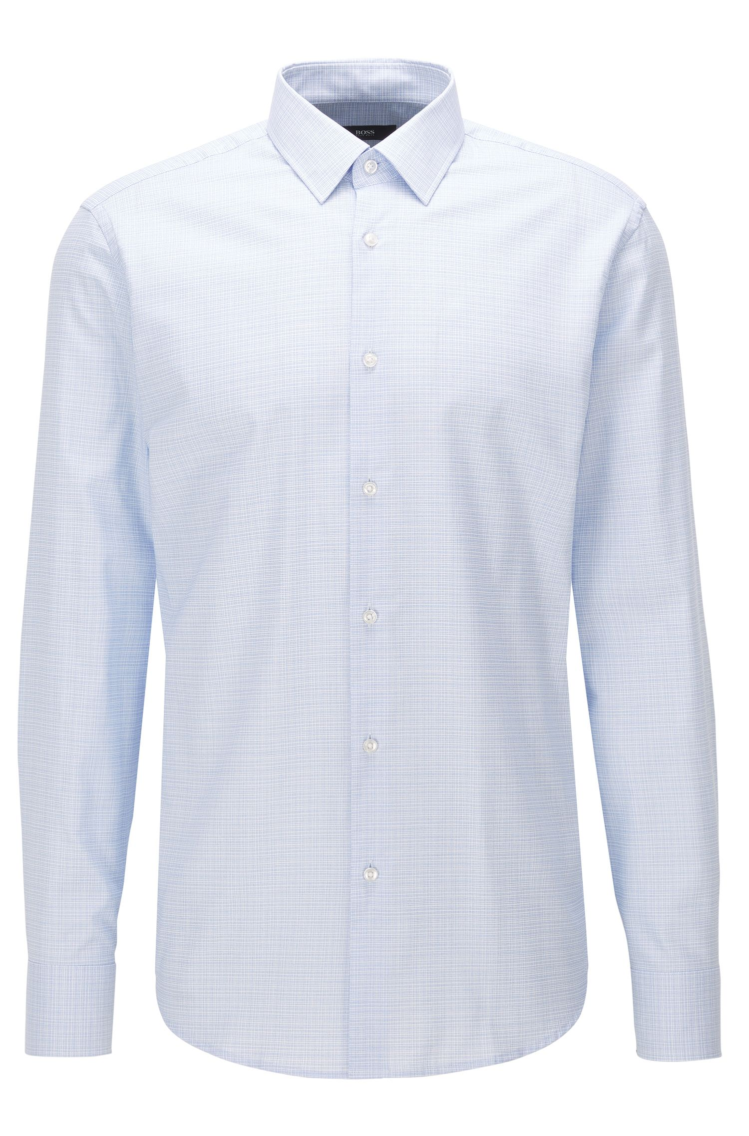 Crosshatch Easy Iron Cotton Dress Shirt, Regular Fit | Enzo