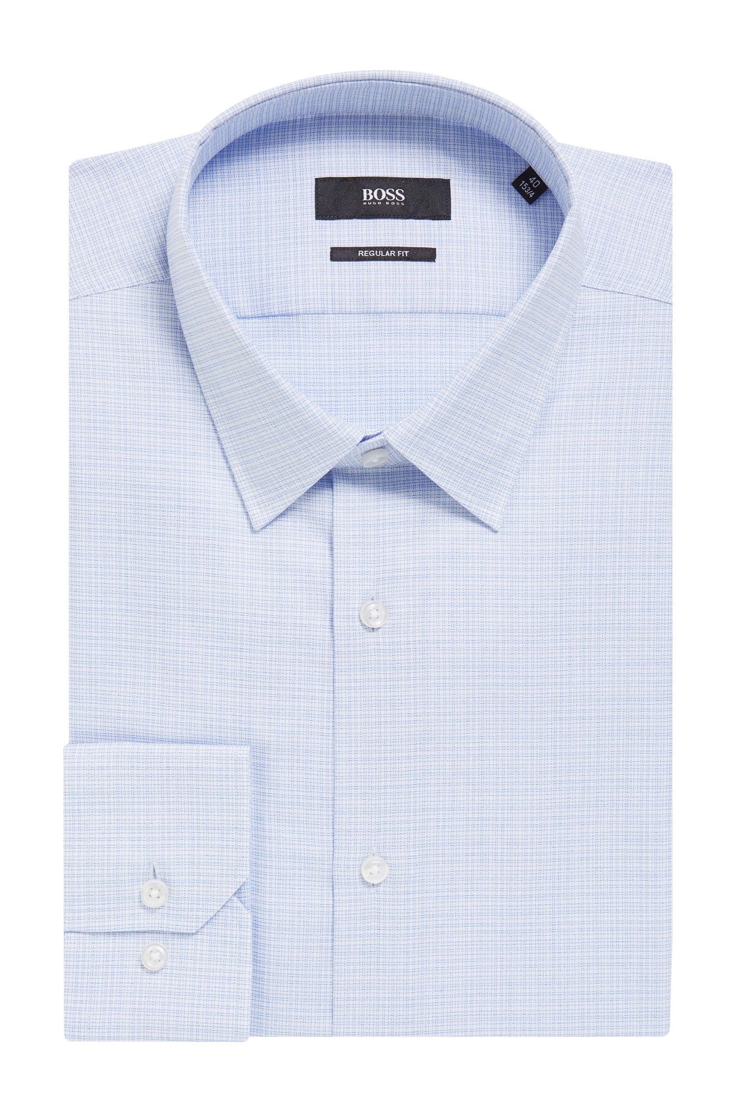 'Enzo' | Regular Fit, Crosshatch Easy Iron Cotton Dress Shirt