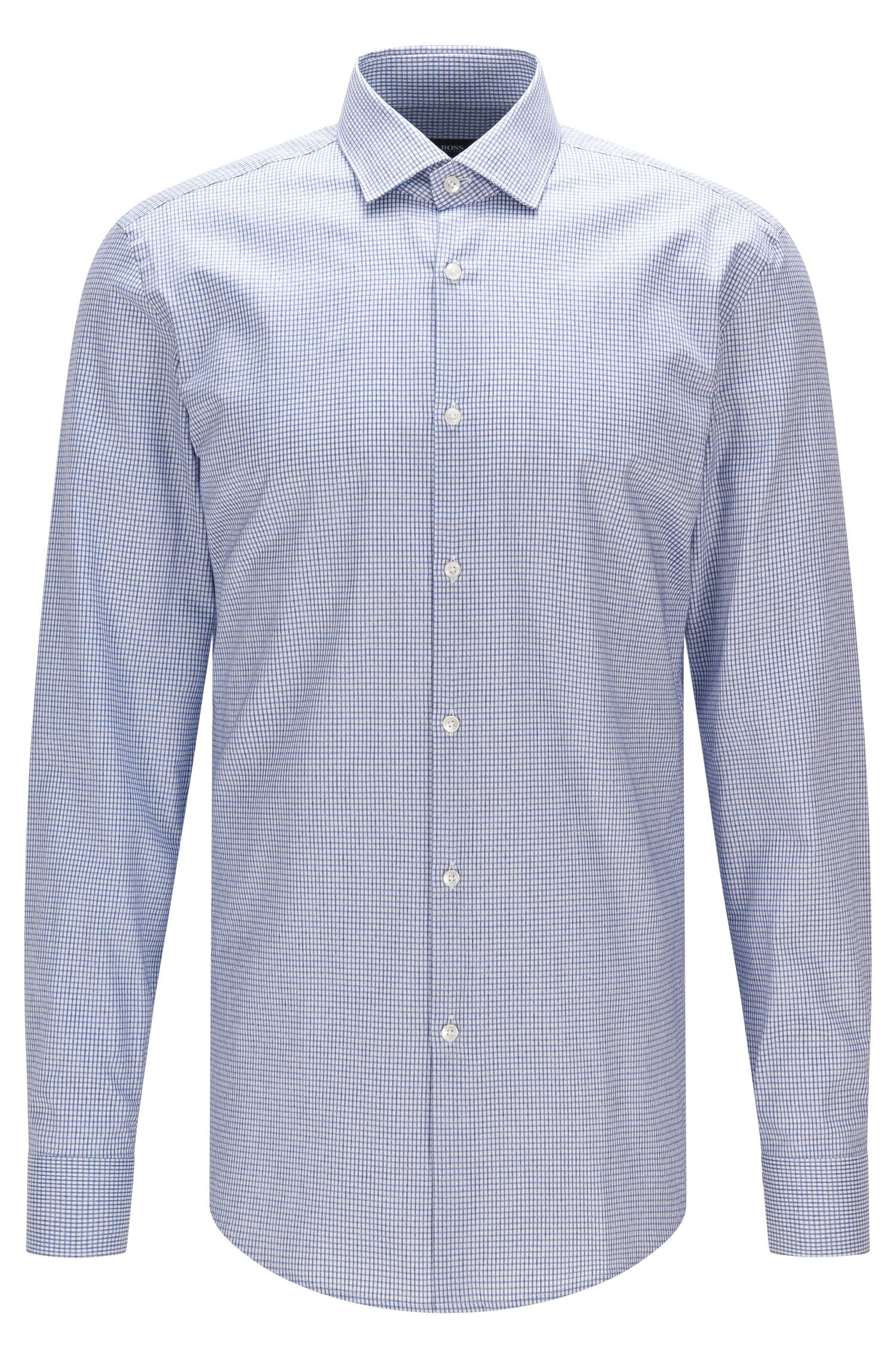 Tattersall Cotton Dress Shirt, Slim Fit | Ismo