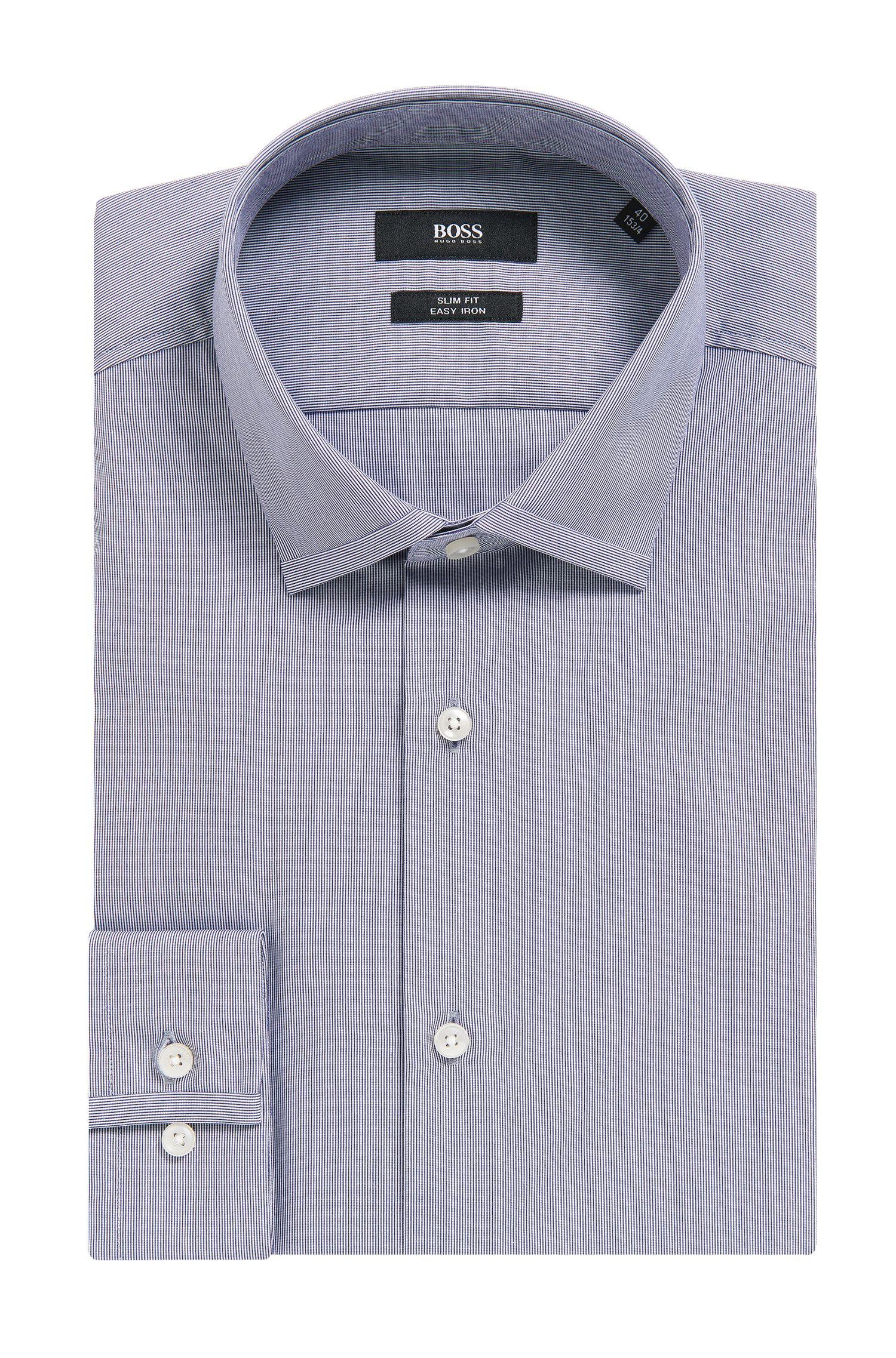 'Ismo' | Slim Fit, Microstriped Easy Iron Cotton Dress Shirt