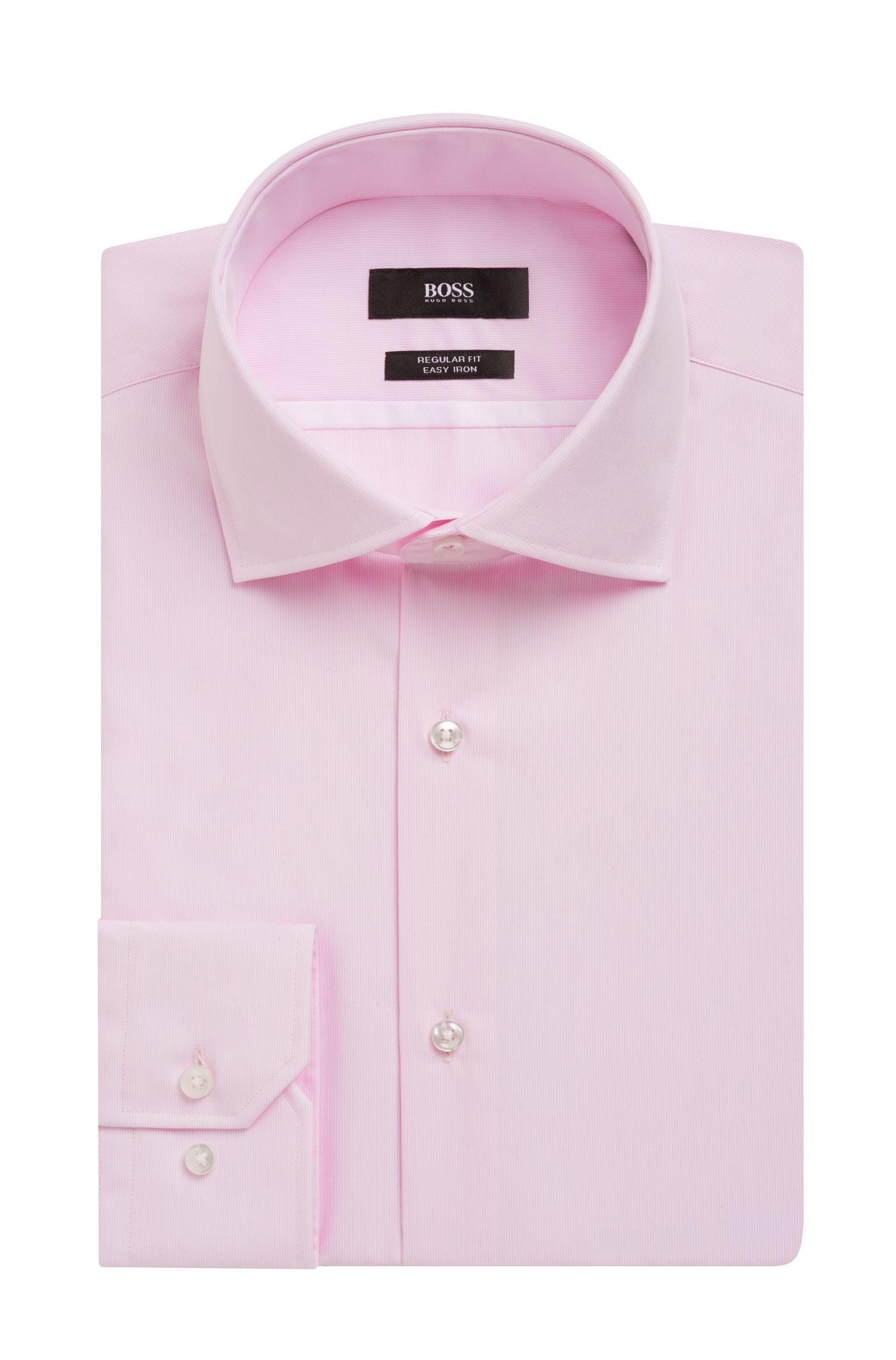 Striped Easy Iron Cotton Dress Shirt, Regular Fit | Gert